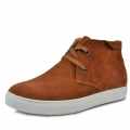 Brown elevation shoes that increase height 6cm / 2.36inches lace-ups casual shoe