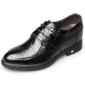 2018 Extra Taller Dress Shoes Height 3.2inch / 8cm Embossed Leather Elevator Derby Shoes