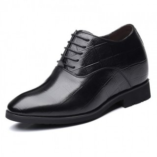 4 inch Men Elevator Oxfords Premium Cowhide Height Increasing Business Shoes Gain Taller 10cm