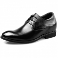 2018 Premium Calfskin Elevated Wedding Shoes 2.6inch / 6.5cm Plain Toe Taller Derby Shoes