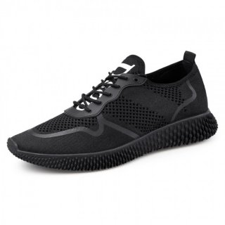 Novelty Elevator Running Sneakers Breathable Low Top Casual Mesh Shoes Taller 2.4inch / 6cm