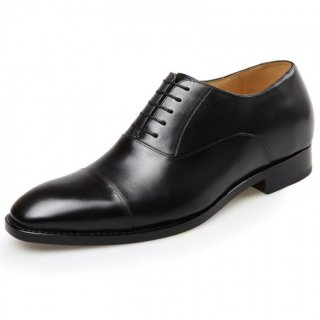 Vogue Cap Toe Taller Dress Shoes 2.8inch / 7cm Full Calfskin Designer Elevator Formal Oxfords