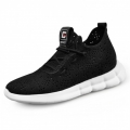 Utmost Comfortable Elevator Sneakers Hollow Out Height Flyknit Shoes Grow Tall 2.6inch / 6.5cm