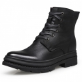 Modern Elevator Combat Boots Woolen Men Taller Military Shoes Side Zip Army Boot Height 7cm / 2.8inch