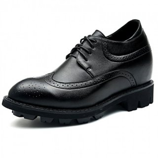 Wing tip height taller brogue shoes 4.7inch / 12cm