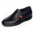 Black soft cowhide elevator loafers 6cm / 2.36inch without glue sew casual shoes