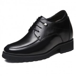 Elegant Taller Wedding Shoes Black Elevated Men Tuxedo Shoes Increase Height 4.7inch / 12cm