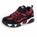 Men heel height 8cm / 3.2inch elevated outdoor shoes black-red