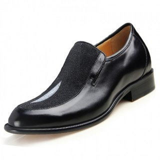 High-flyer Genuine Stingray Skin Formal Shoes Gain Height 6.5cm / 2.56inches Elevator Dress shoe