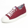 Korean height inceasing canvas shoes add taller 6cm / 2.36inch red lace up sneakers