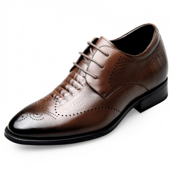 Elevator brogue shoes for men