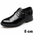 Gentlemen Taller Shoes Lace Up Business Formal Shoes Increase Height 3.2inch / 8cm