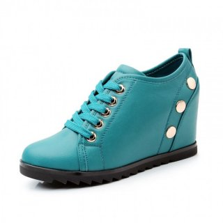 Korean rivet height increasing shoes women elevator casual shoes make you taller 8cm / 3.15inches