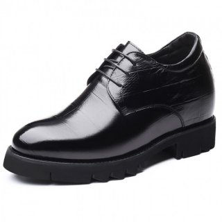 Height Enhancing Business Formal Shoes Calfskin Elevator Derbies Increase Taller 4inch / 10cm
