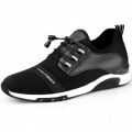 Breathable Elevator Fitness Shoes 2.4inch / 6cm Lace Up Taller Men's Sneakers