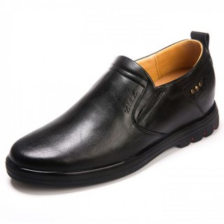 Premium Hidden Heel Business Loafers Comfort Elevator Shoes Invisible Height 2.6inch / 6.5cm