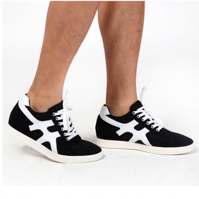 2018 Premiere Fashion Sneaker Taller 2inch Black Daily Lifestyle Elevator Skateboarding Shoe
